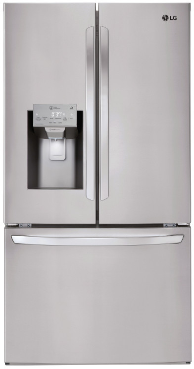 Lg 36 Inch 22 1 Cu Ft French Door Refrigerator Stainless Steel