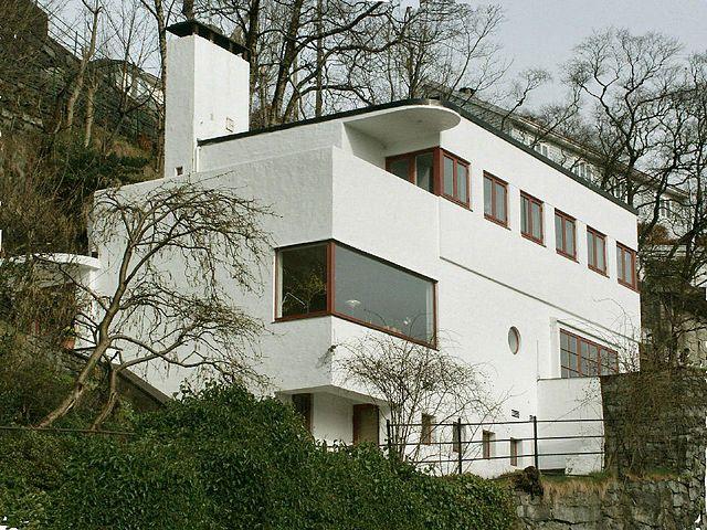 Funksjonalistisk villa 1934 bergen. arkitekt leif grung foto: frode