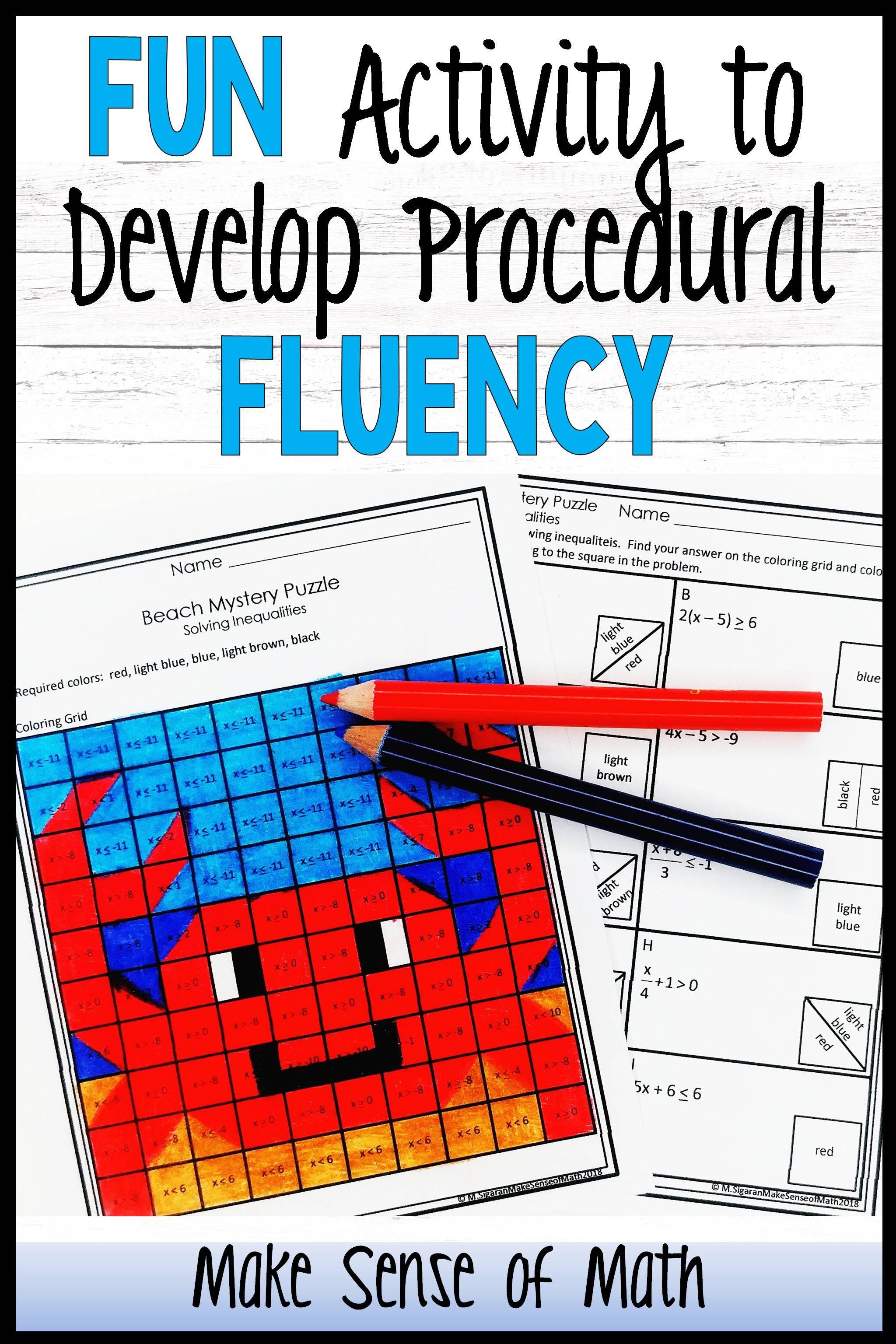 Fun Activity To Develop Procedural Fluency