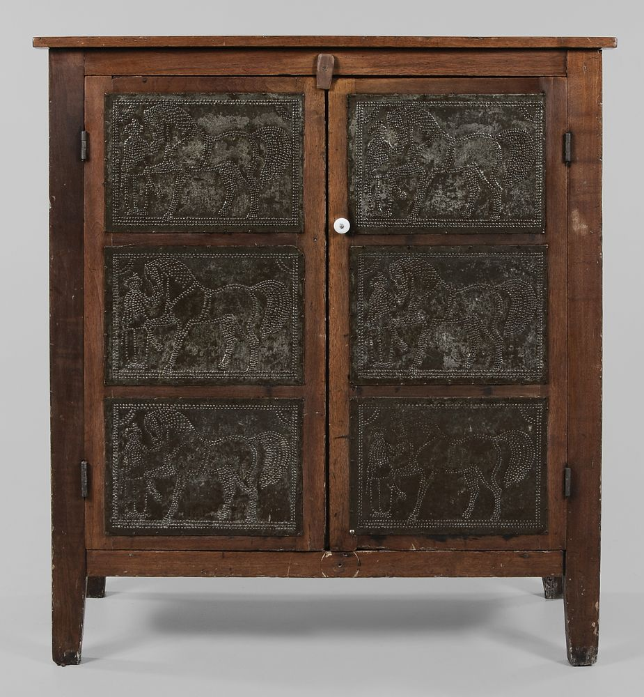 Rare Southern Walnut Pie Safe Attributed To Tennessee