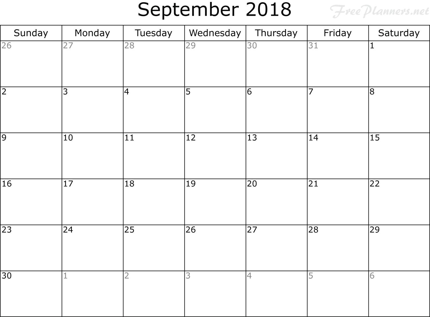 september 2018 calendar cute template september 2018 calendar