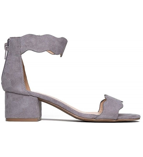 e4f074e9d0c6 Suede Open Ankle Strap Sandal - Grey Suede - C612MGRAW53 in 2018 ...