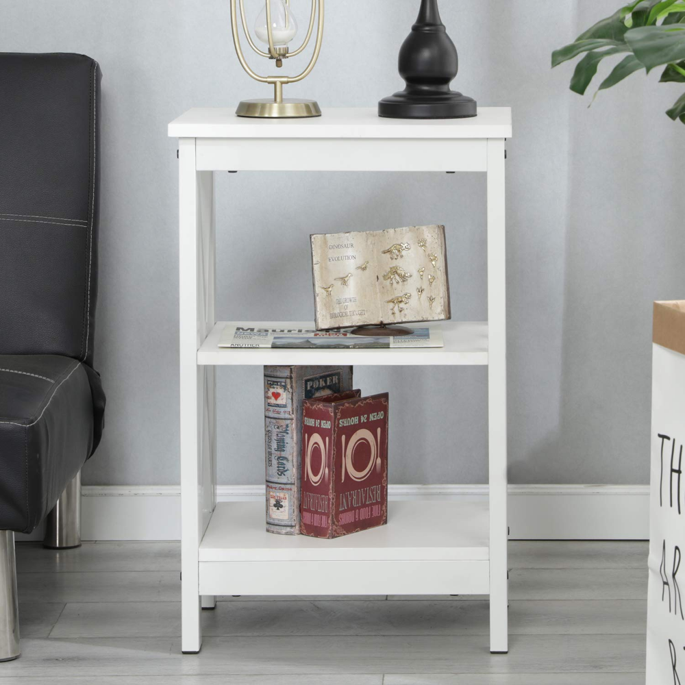 Amazon Com Soges End Table Coffee Table Night Stand Side Table Sofa Table With 3 Tier Shelf White Dx 240a Xw Ksbd Home With Images Coffee Table Sofa Table Table