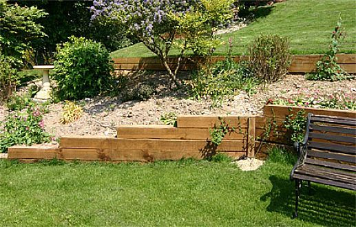 Wooden Retaining Wall Ideas - Tapered Off | Patio | Pinterest