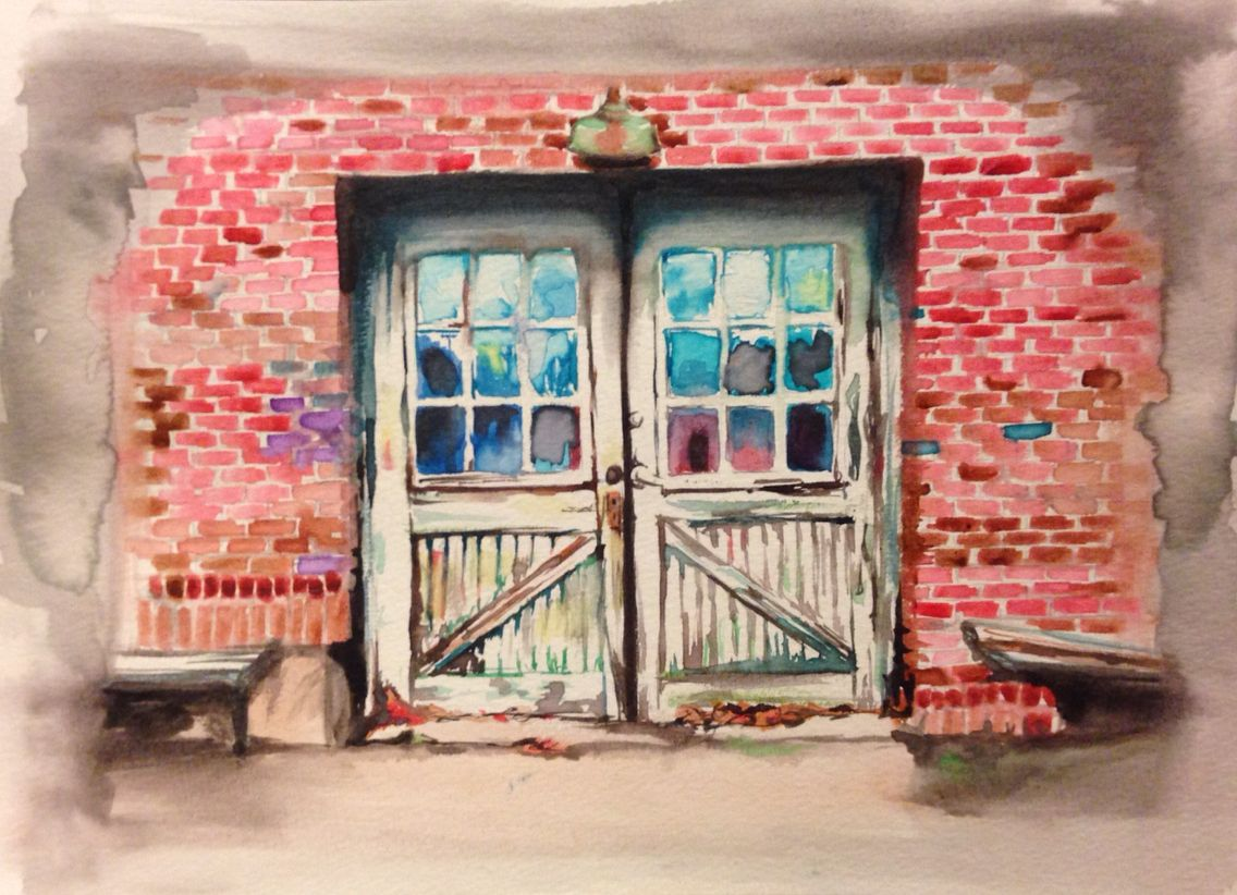 Watercolor of White Furniture Company, Mebane