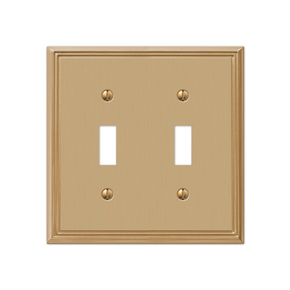 Hampton Bay Metro Line 2 Toggle Wall Plate - Brushed Bronze-77TTBZHB ...