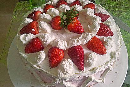 Erdbeer Quark Sahne Torte Rezept Kuchen und