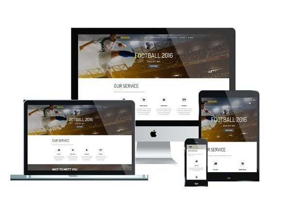 WS Soccer Wordpress theme by WooCommerce Themes on @Graphicsauthor ...