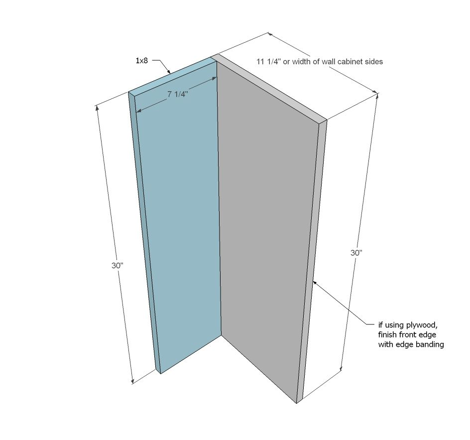 Ana White | Build a Open Shelf End Wall Cabinet | Free and Easy DIY ...