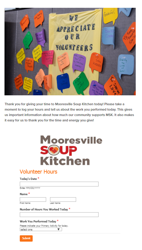 Volunteer forms image by Little Green Light on Online