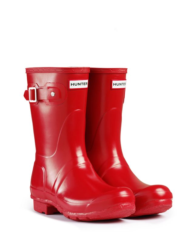 Hunter Wellies Courts Originaux En Rouge - Rouge ouKkyTt