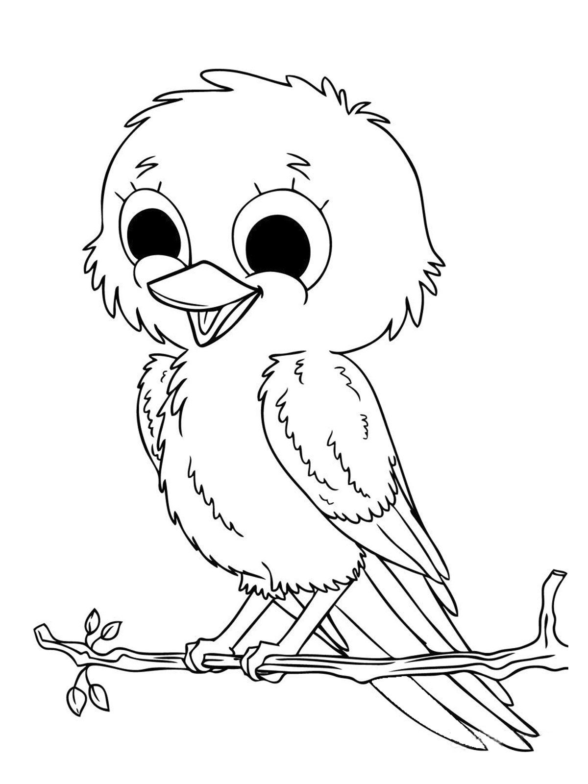 Online coloring pages for children to print - Pictures Baby Sparrow Birds Coloring Pages Bird Coloring Pages Kidsdrawing Free Coloring Pages Online