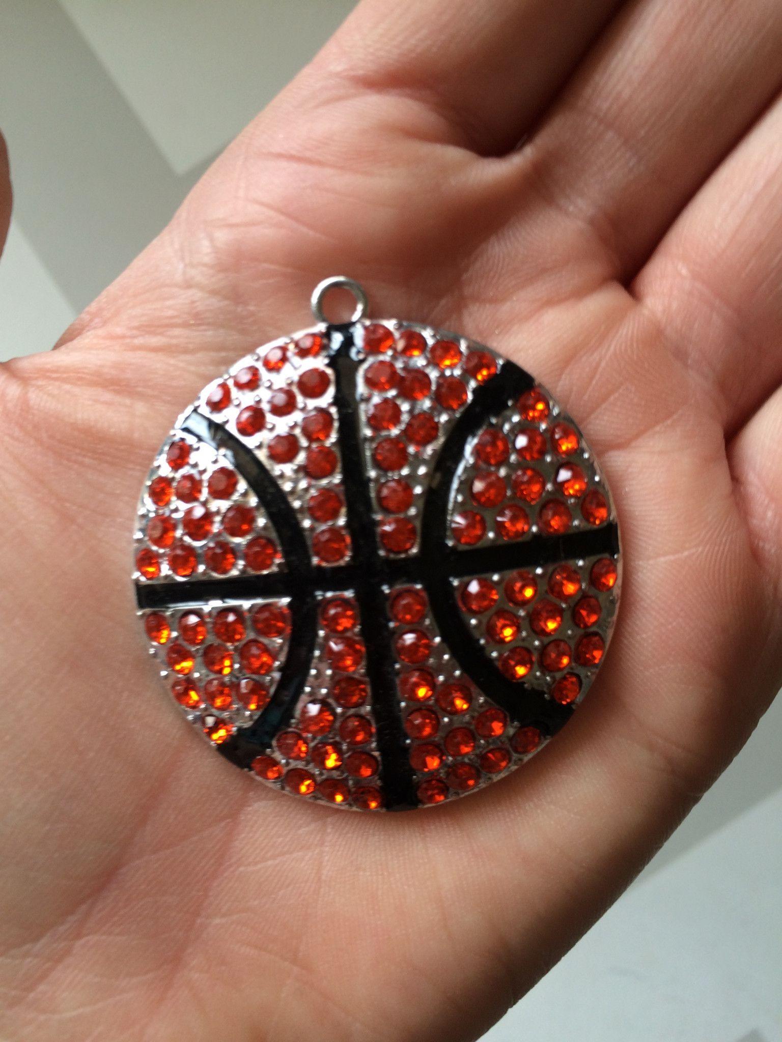 P95 Basketball Rhinestone Pendant