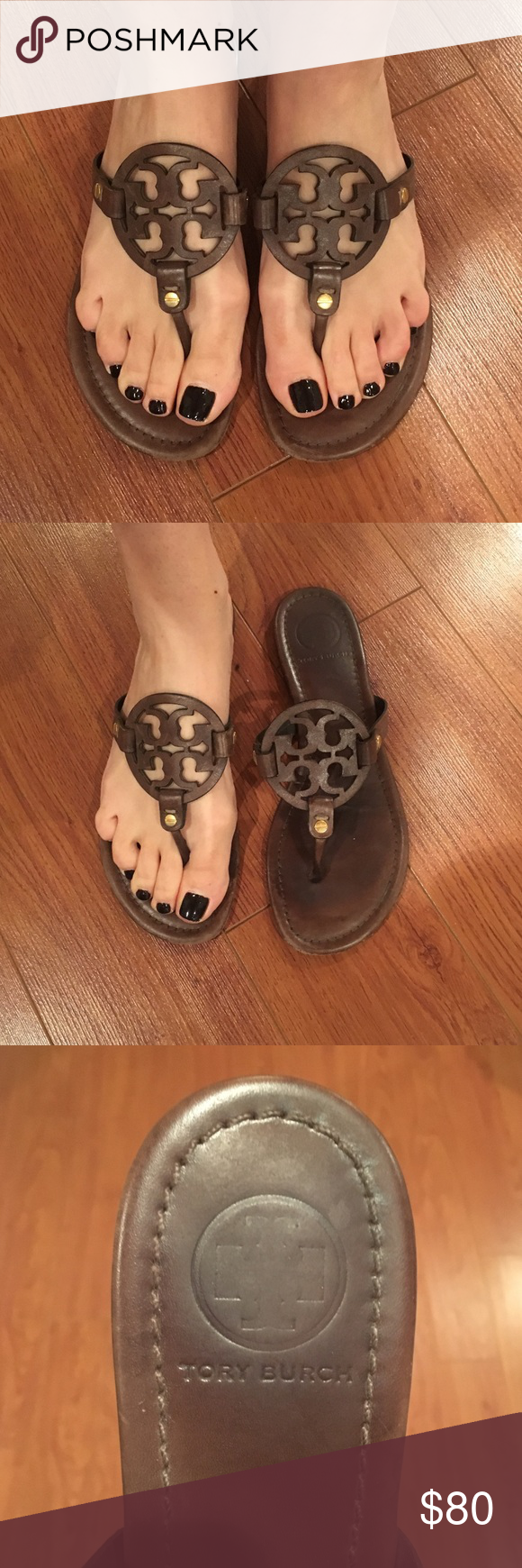 670a2c023 Tory Burch Brown Miller Sandals Size 8 Beautiful stylish chocolate brown  leather sandals. Tory Burch Shoes Sandals