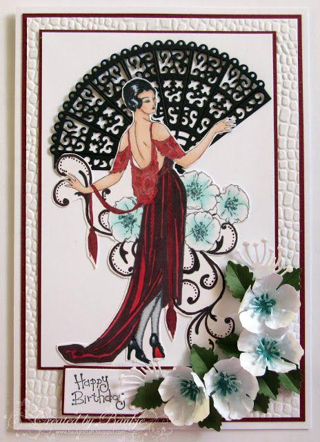 Baukje S Cards And Crafts Vintage Fashion Cards Art Deco Cards Cards Crafts