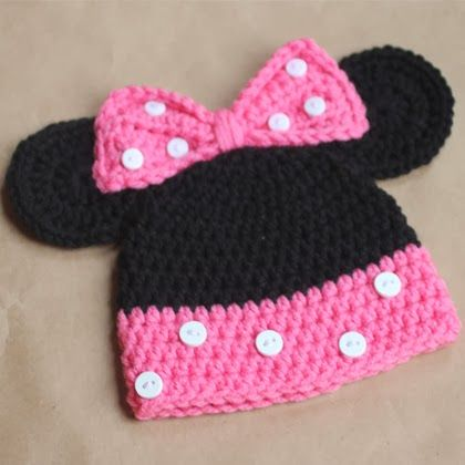 Minnie Mouse Crochet Hat Pattern This Is Kinda Cool Lol