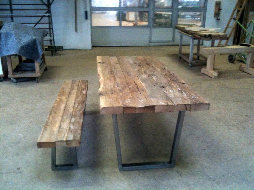 Altholztisch Tisch Altholz Alte Eiche Rustikal Massiv Esstisch