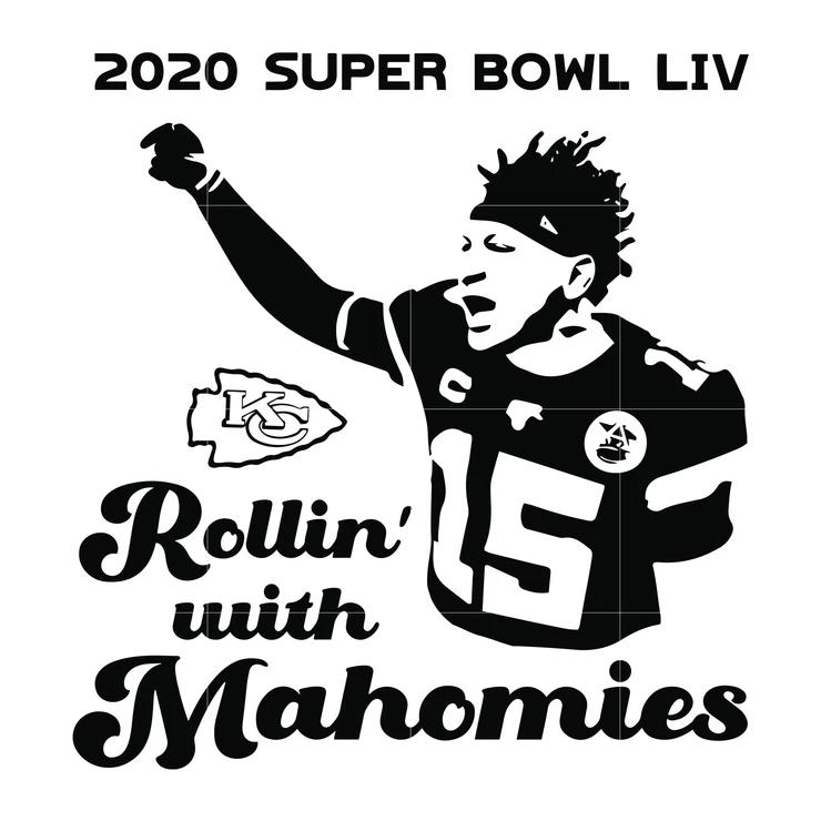 2020 super bowl rollin with mahomies svg, mahomes svg