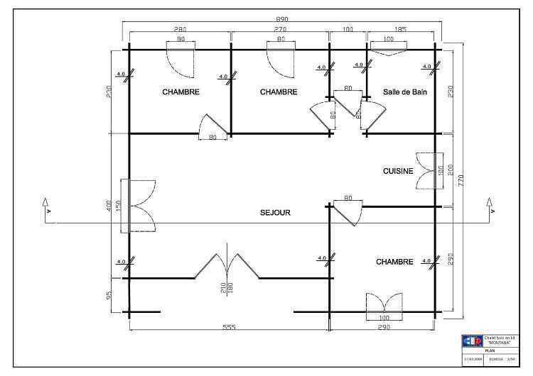 Image issue du site Web    wwwchaletabri chalet im - plan maison plain pied 80m2