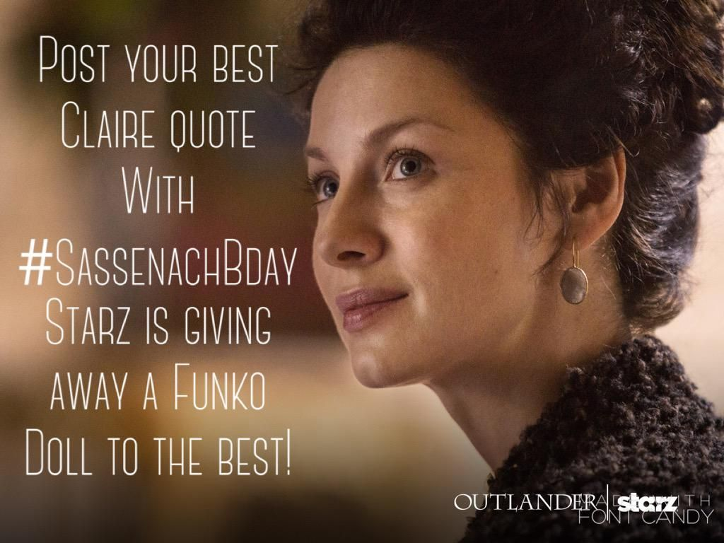 Claire's Bday is Tues - tweet your best Claire quote for a chance to win a Claire Funko Doll from @Outlander_Starz pic.twitter.com/ugTHAoDGtY