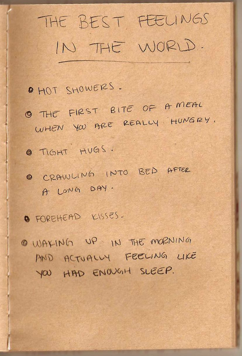 The best feelings in the world, but really..