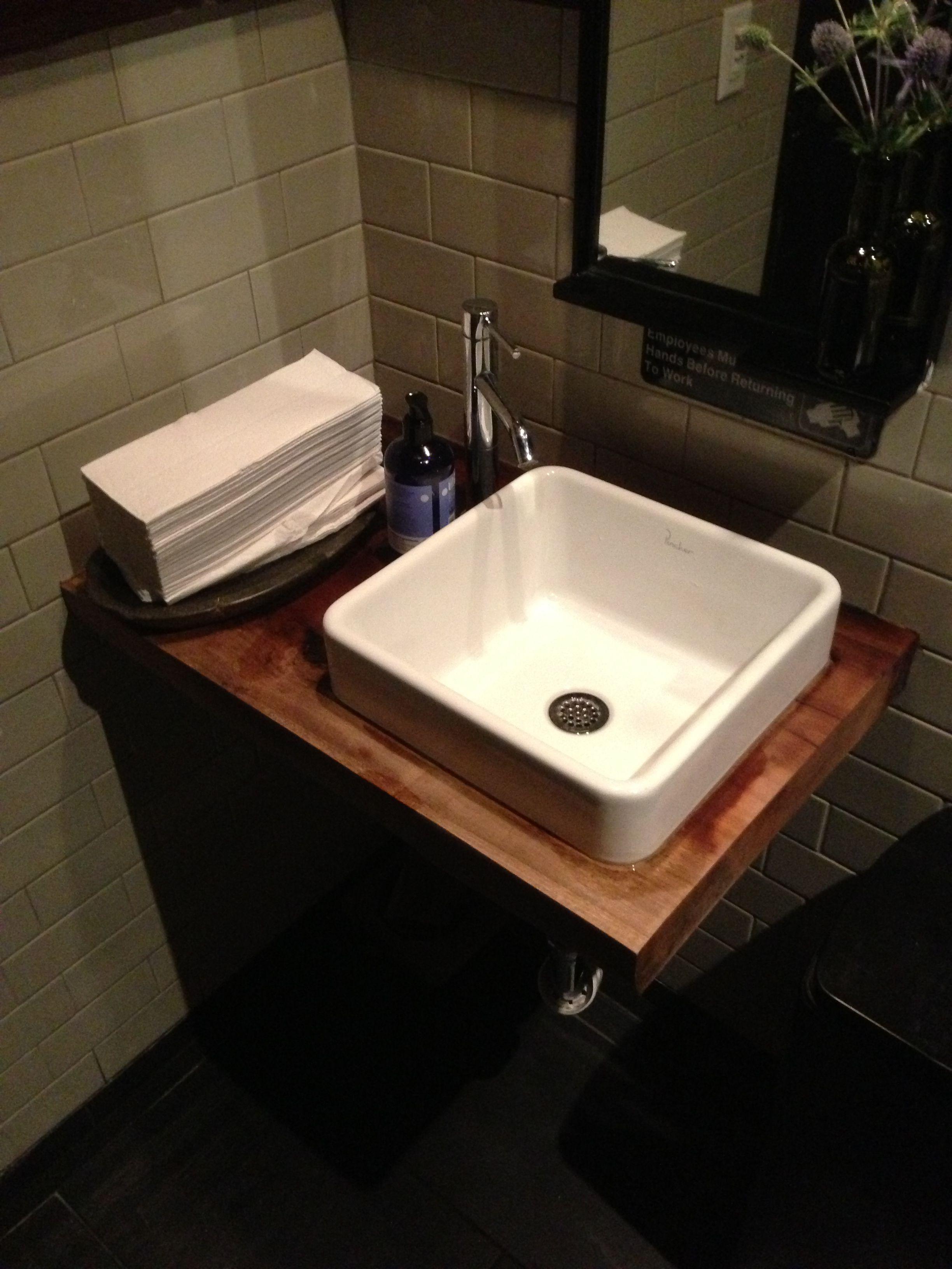 Small Bathroom Sink Ideas: Small Bathroom Sink W Wood