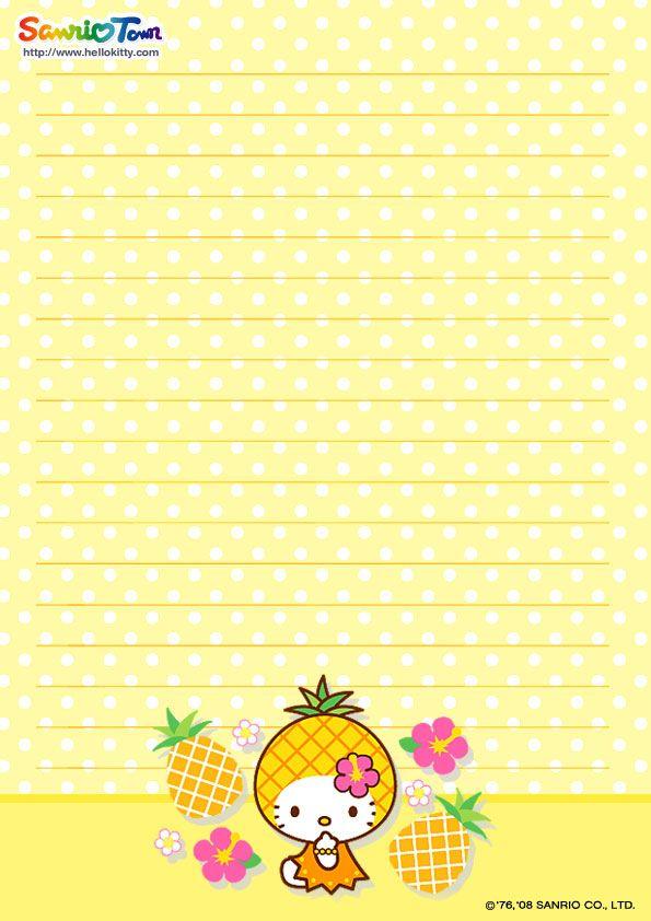 Hello Kitty Printable Stationary printables Pinterest - printable notepad paper