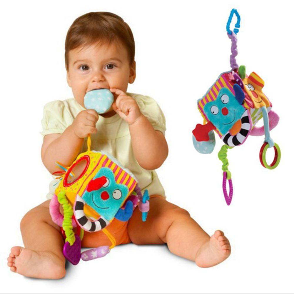 New Baby Mobile Baby Toy Plush Block Clutch Cube Rattles Early Newborn Baby Educationa Brinquedos Educativos Para Bebes Produtos Para Recem Nascidos Bebe Movel