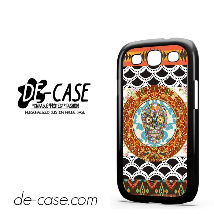 Skull Aztec Floral Art DEAL-9645 Samsung Phonecase Cover For Samsung Galaxy S3 / S3 Mini