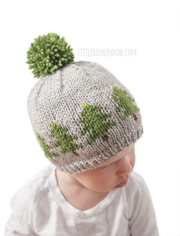 Fair Isle Christmas Tree Farm Hat Knitting Pattern | Ropa de niñas y ...