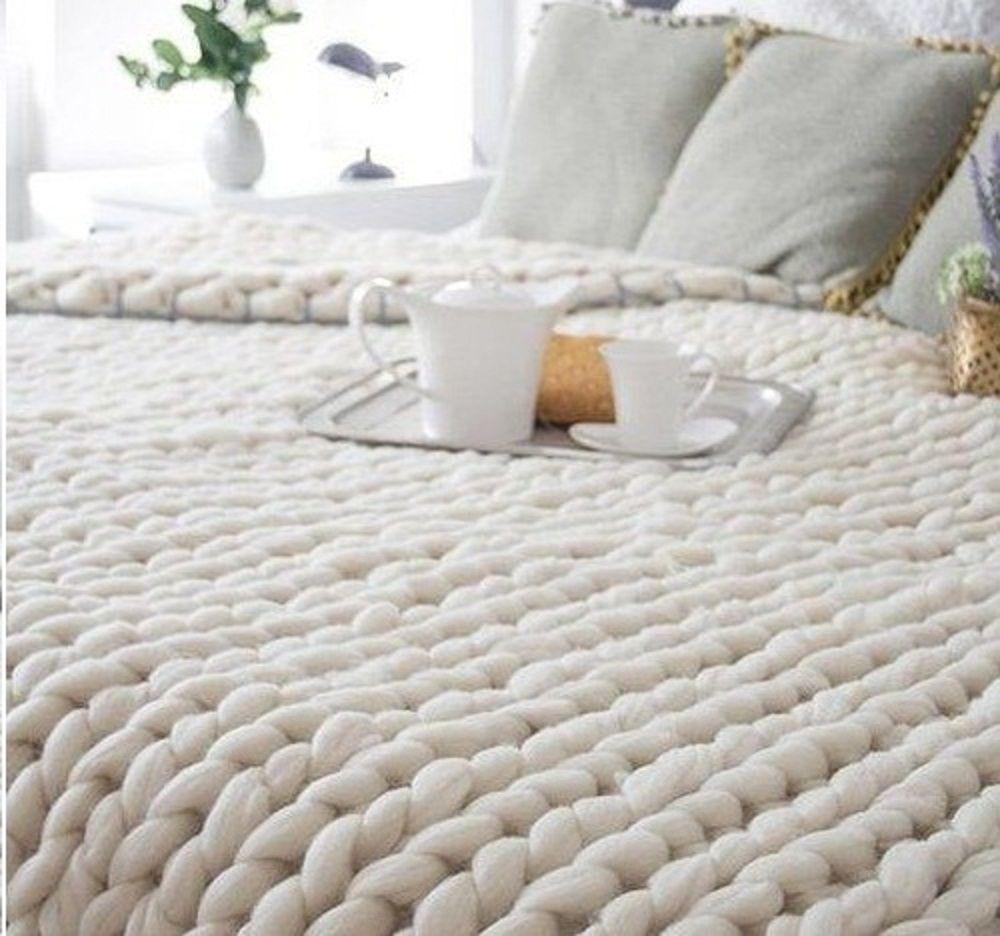 Manta de lana super gorda tejidos extremos mary go - Lana gorda para mantas ...