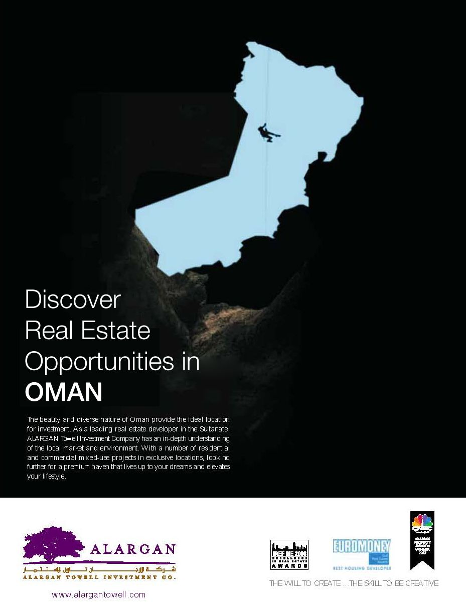 Oman AD | Print AD | Print ads, Investment companies, Real