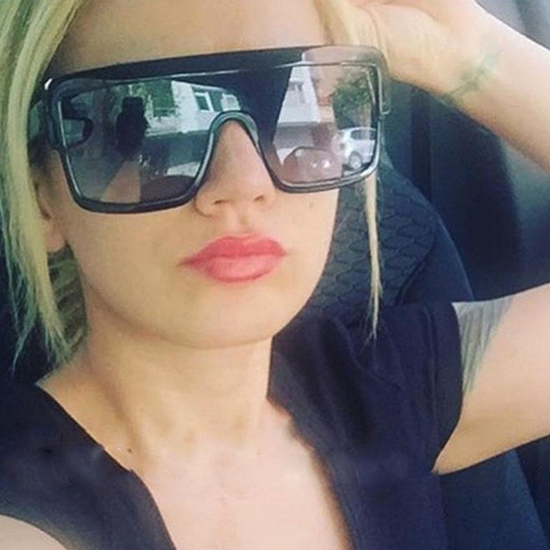 18ea51038fda RSSELDN Square Sunglasses Women Oversized Fashion Brand Designer Gradient  Lens Sun glasses Men Flat Top Style