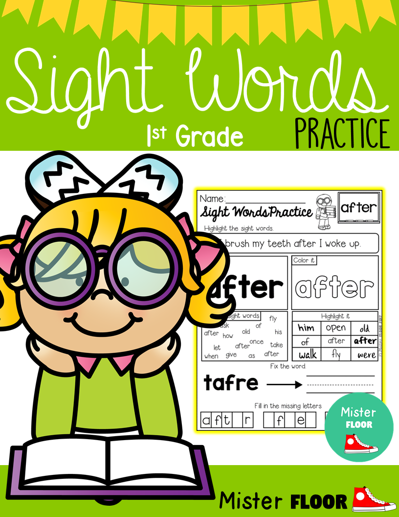 These sight word practice pages are perfect for Preschool ...
