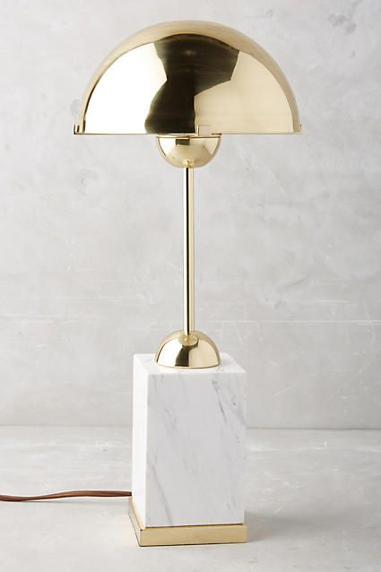 Mixed Material Console Lamp - anthropologie.com