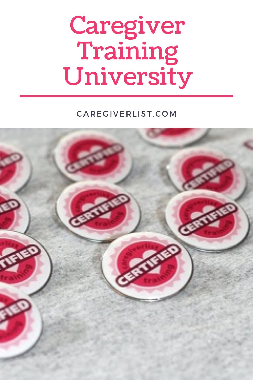 Caregiver Training University in 2020 Senior care, Home