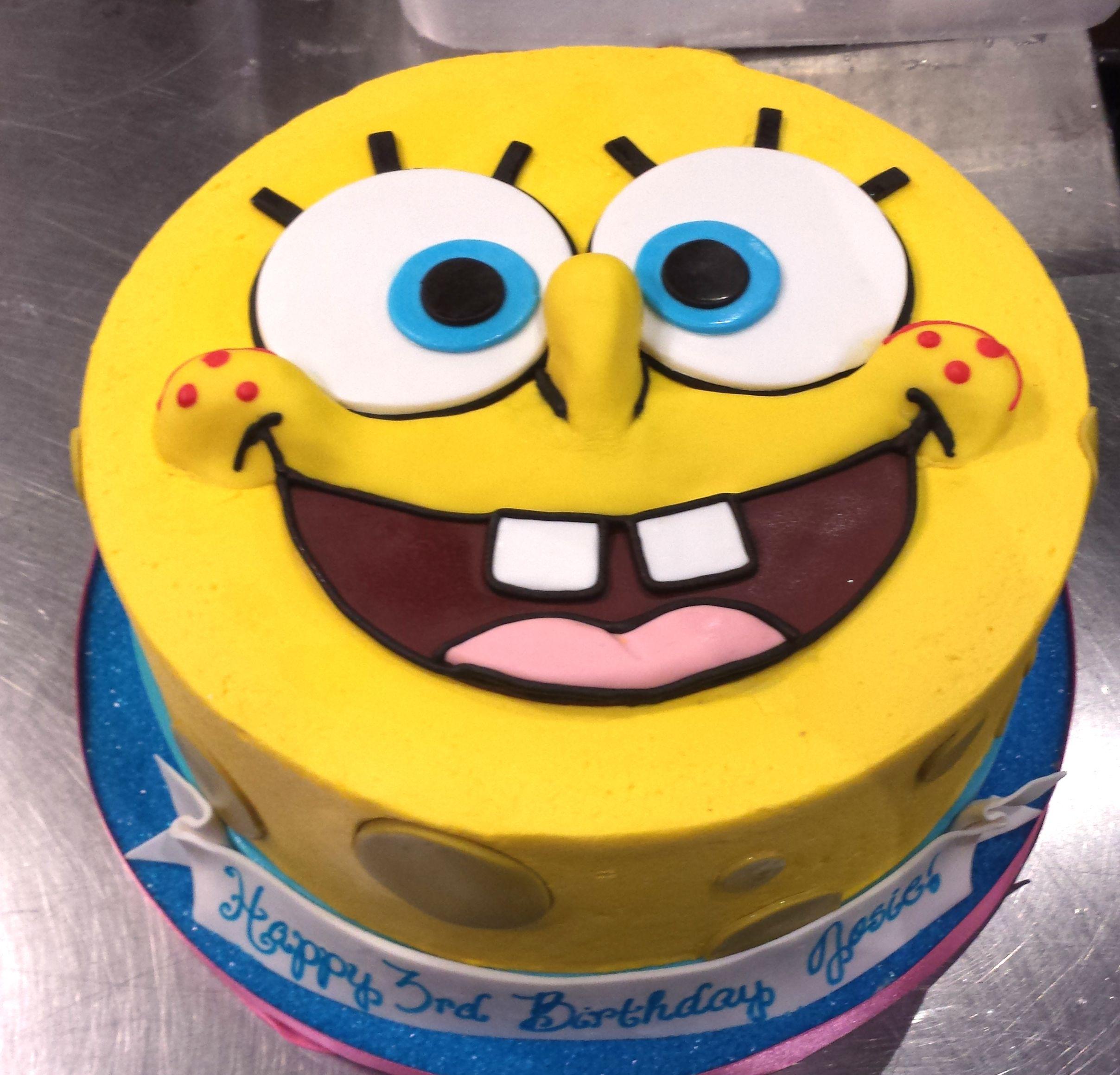 Astonishing Spongebob Cake With Images Spongebob Birthday Cake Spongebob Funny Birthday Cards Online Alyptdamsfinfo