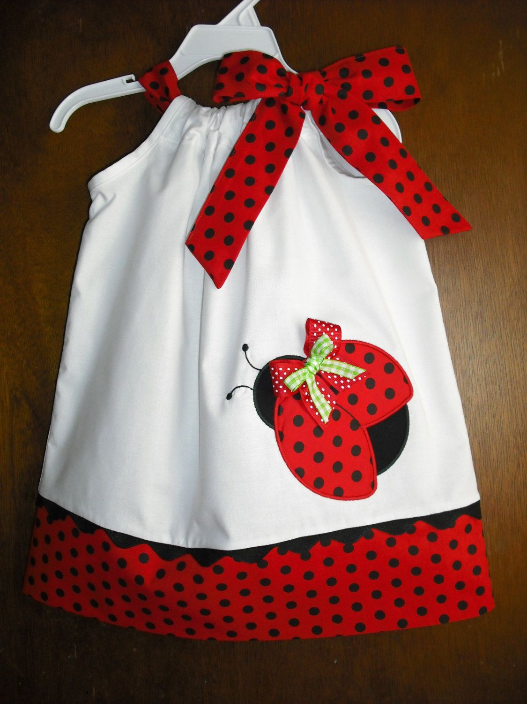Cute Ladybug Pillowcase Dress. $28.00, via Etsy.