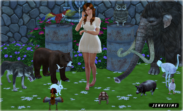 Jennisims Downloads sims 4Decoratives animals Vol18 (1