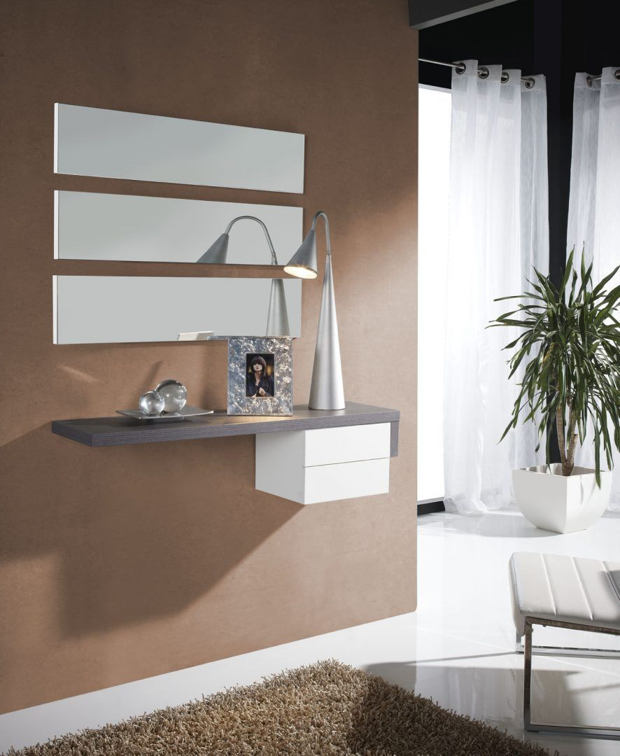 Receiver In Brown Tones Living Room Pinterest Recibidor  # Muebles Kaoba Burgos