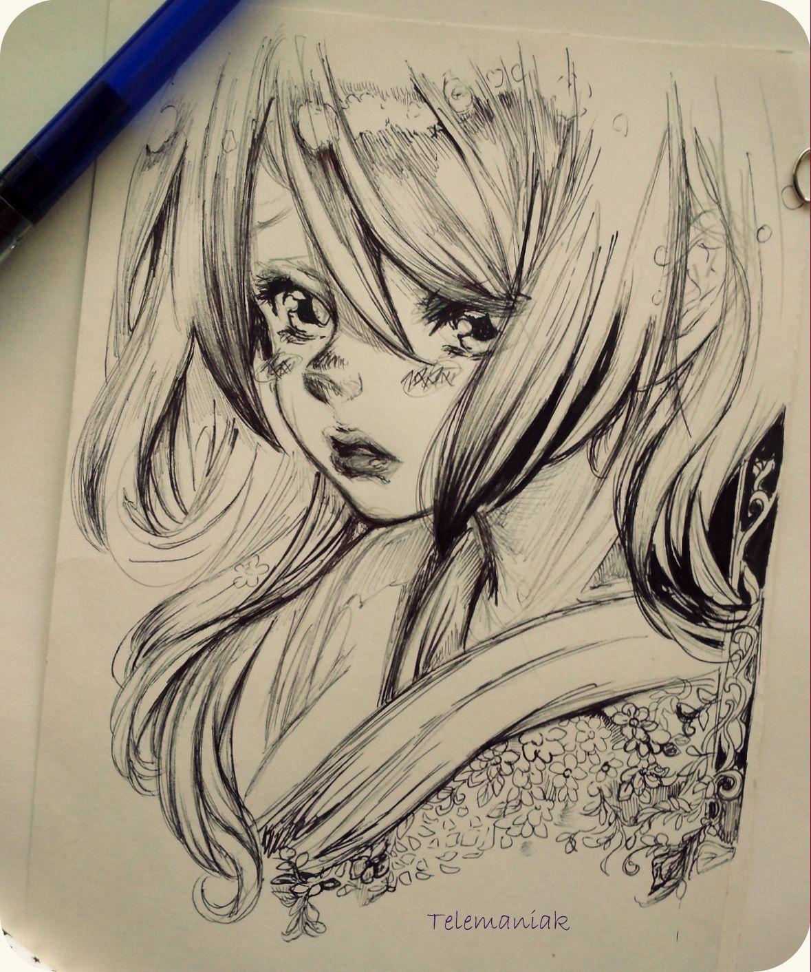Manga By Telemaniakk Anime Drawings Manga 3d Pencil Drawings