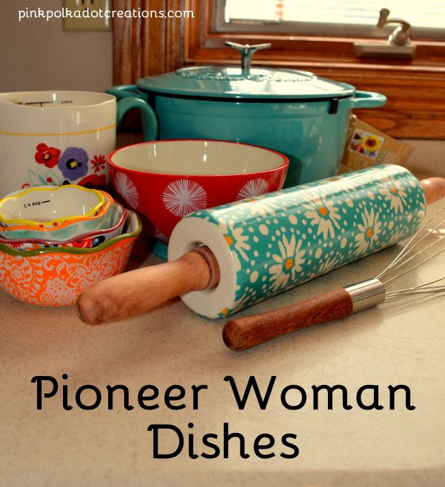 Pioneer woman dishes pink polka dot creations shabby for Utensilios de cocina walmart