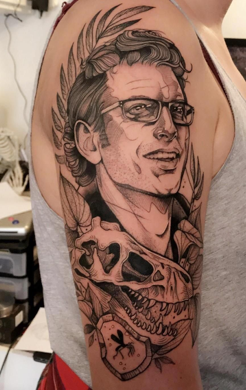 Jeff goldblum by cutty bage hollow moon tattoo boone nc