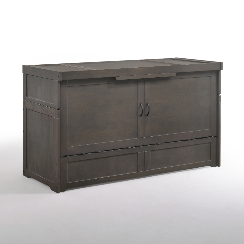 Cube Queen Murphy Bed Stonewash by Night & Day
