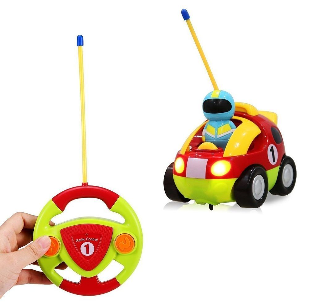 Toys cars for kids  Cartoon RC Race Car Radio Control Toy for Toddlers  Months NEW