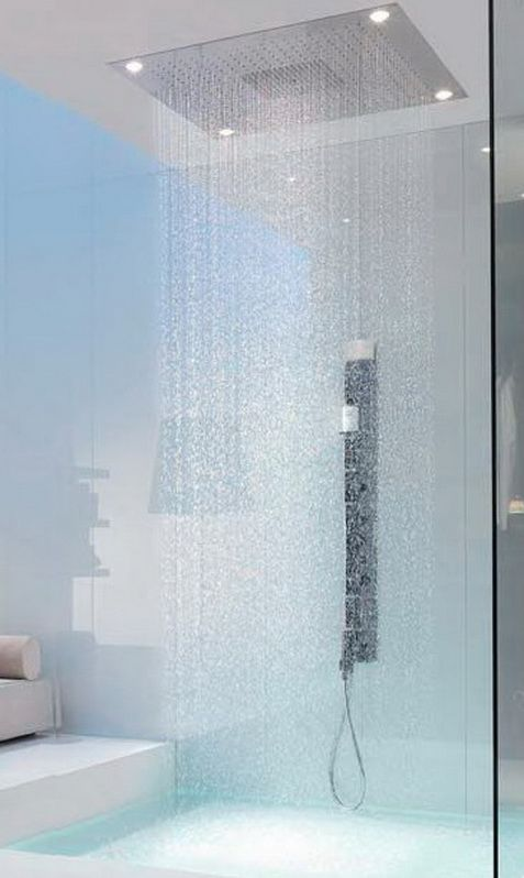 30 unique shower designs layout ideas lluvia for Ducha efecto lluvia