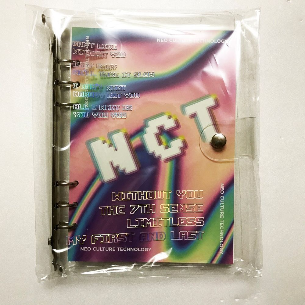 SM Town SUM Gift Shop ARTIST 6 HOLE BINDER NOTE - NCT I can