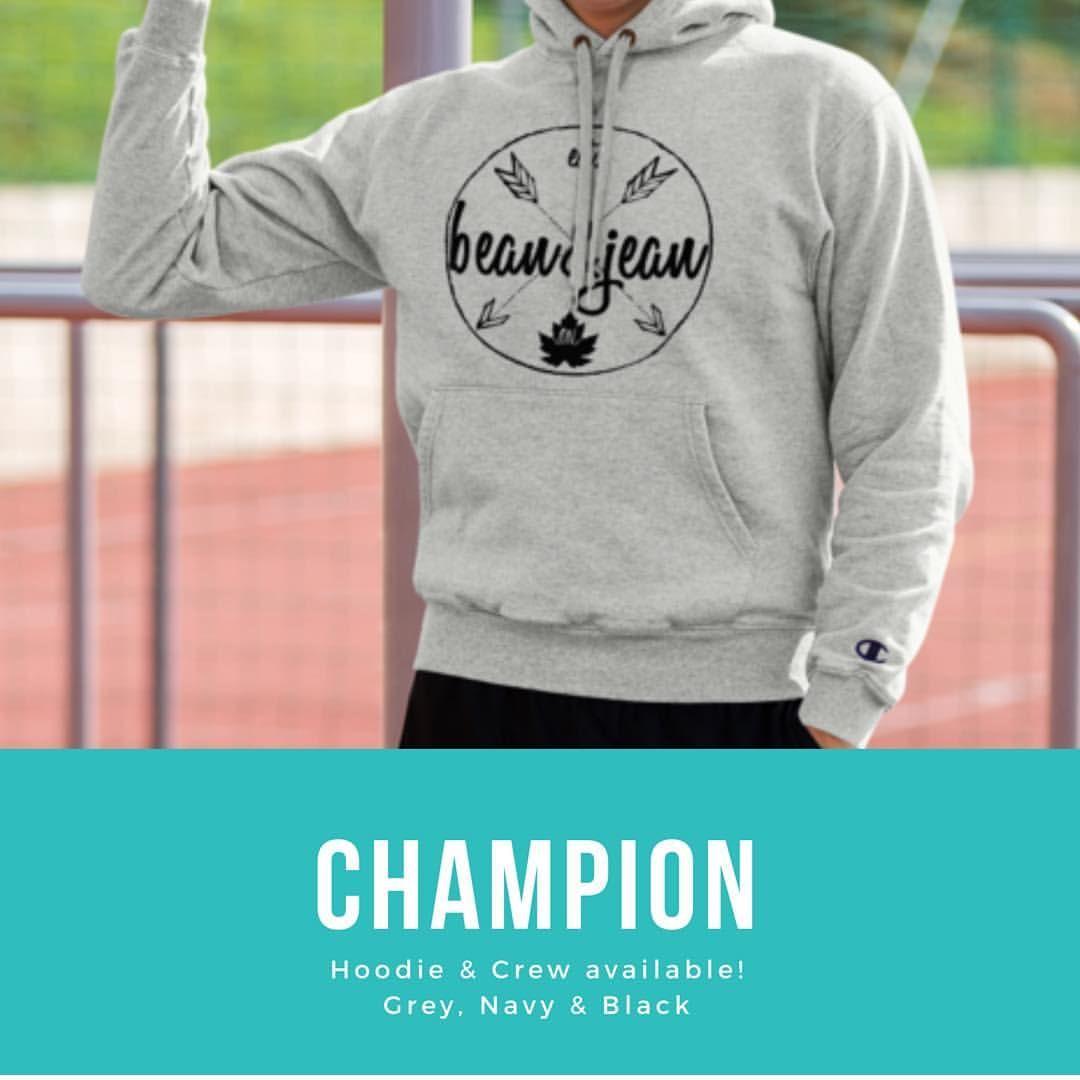 New Champion Hoodies Crews Available Beanandjean Custom Canada Ontario Cambridge Shoplocal Customshirts Letssh Champion Hoodie Custom Shirts Hoodies [ 1080 x 1080 Pixel ]