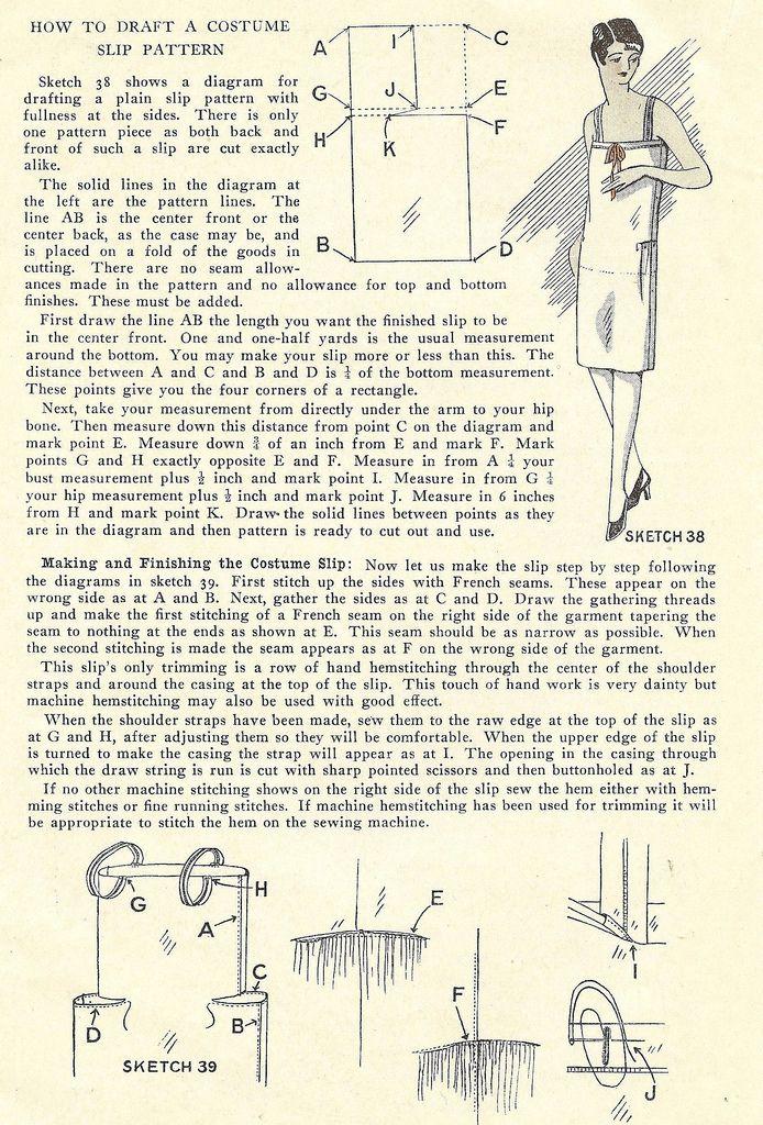 1920\'s costume slip | Patrones - Moldes - Patterns | Pinterest ...