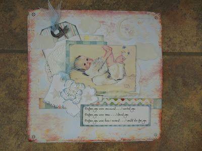 "Baby Album 12x12"" page layout by Le Rai Originals"